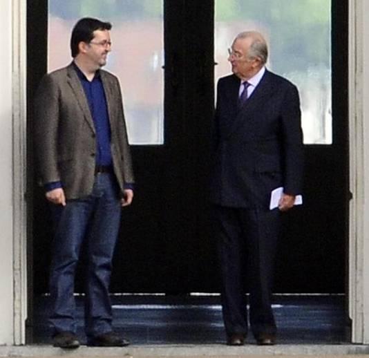 Wouter Van Besien et Albert II en 2011