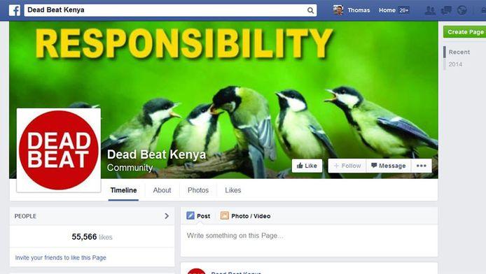 Een screendump van de facebookgroep.
