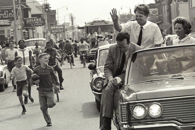 Politicus: Bobby Kennedy. 'Ik zag hem spreken in Des Moines, mijn geboortestad. Bobby hield ons een betere wereld voor. Een paar weken later was hij dood.' Beeld Andrew Sacks / Getty