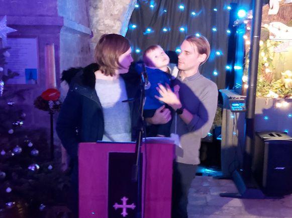 Ook Senn was met zijn ouders aanwezig op het Kerstconcert.
