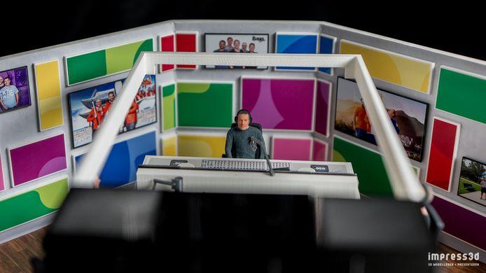 'Evers' in de maquette van zijn studio.
