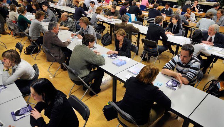 Nijmeegse studenten aan Radboud UMC Beeld Hollandse Hoogte / Flip Franssen