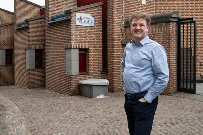 Jeroen Claassen, directeur van basisschool Petrus Canisius, is ook directeur van nieuw te bouwen school in Nijmegen-Noord.