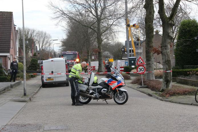 Bergleidingweg in Nijverdal afgesloten door gaslek
