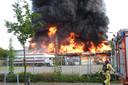 Grote brand bij Jonkers in Valkenswaard