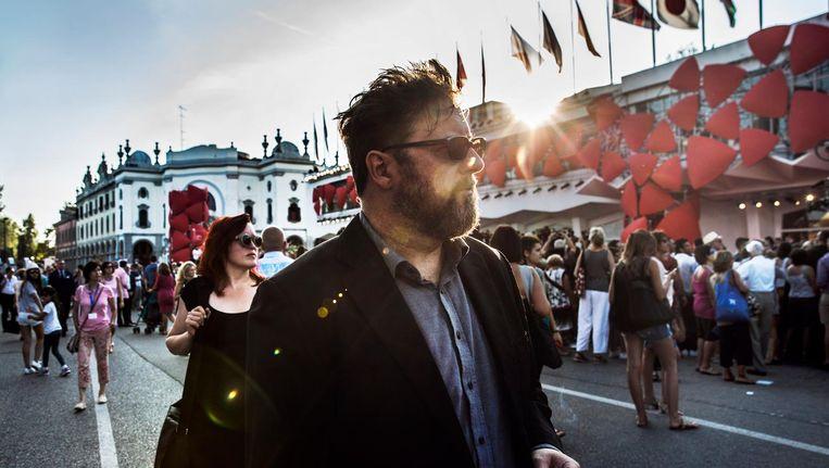 De Nederlandse regisseur Martin Koolhovens presenteerde afgelopen weekend zijn gruwelwestern Brimstone op het filmfestival in Venetië. Beeld Aurélie Geurts