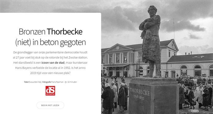 Bekijk de special van de Stentor over het standbeeld van Thorbecke in Zwolle.