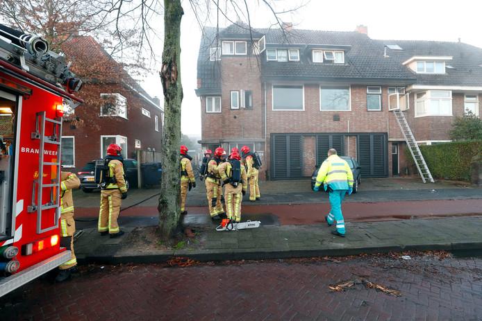 Foto van de massagesalon de dag van de tweede brand.