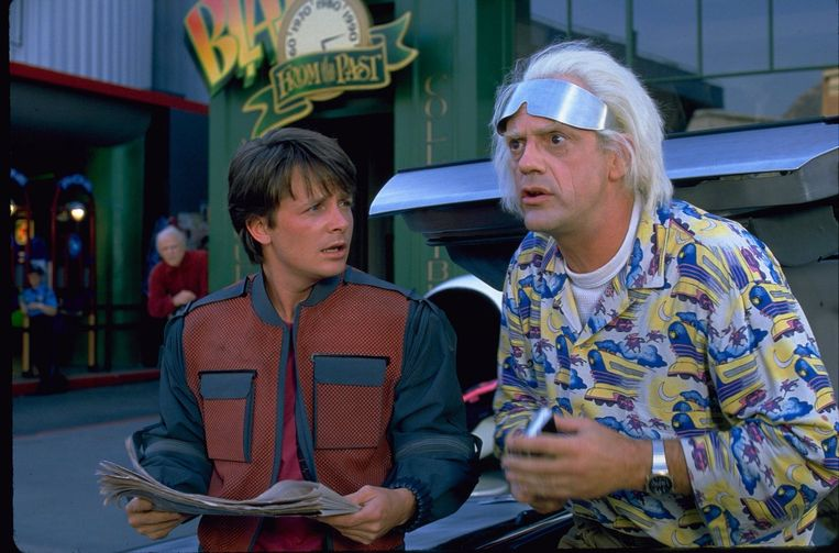Marty en Doc in 'Back to the Future II'.