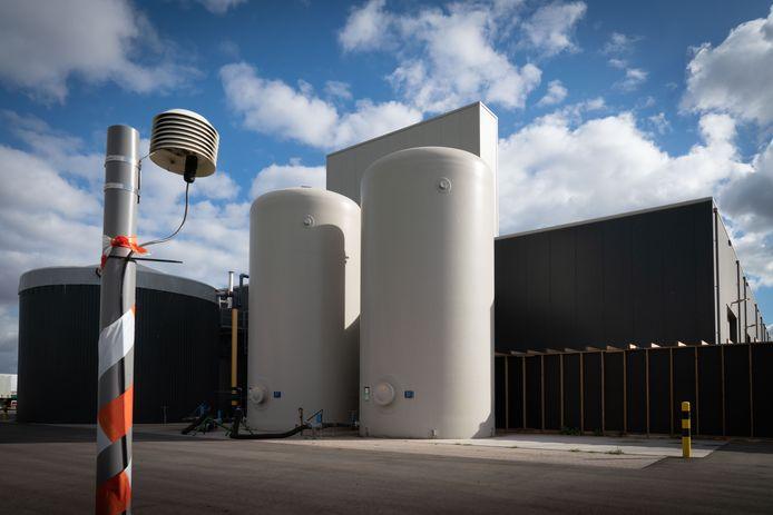 De Groen Gas-centrale, oftwel een mestvergister, van Engie in het Gelderse Bemmel.