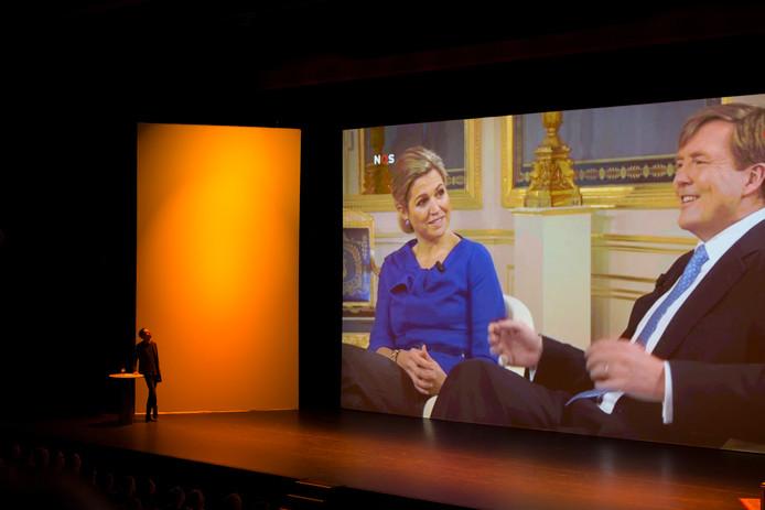 Sander van der Pavert in zijn theaterprogramma Lucky Live in het Zuiderstrandtheater in Den Haag.
