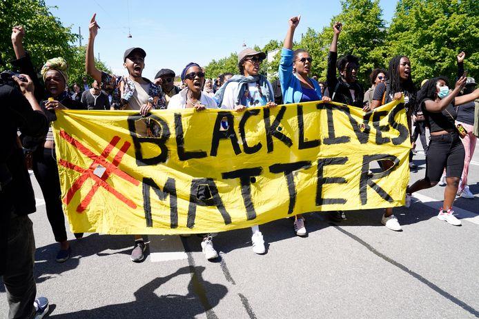Een Black Lives Matter-protest in Denemarken.