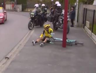 VIDEO. Eerst pech, nadien zware schuiver: Van Aert wordt niet gespaard van onheil in Parijs-Roubaix