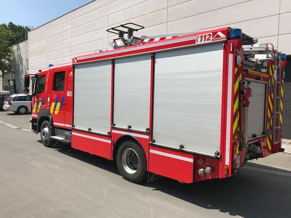 De brandweer aan de toonzaal