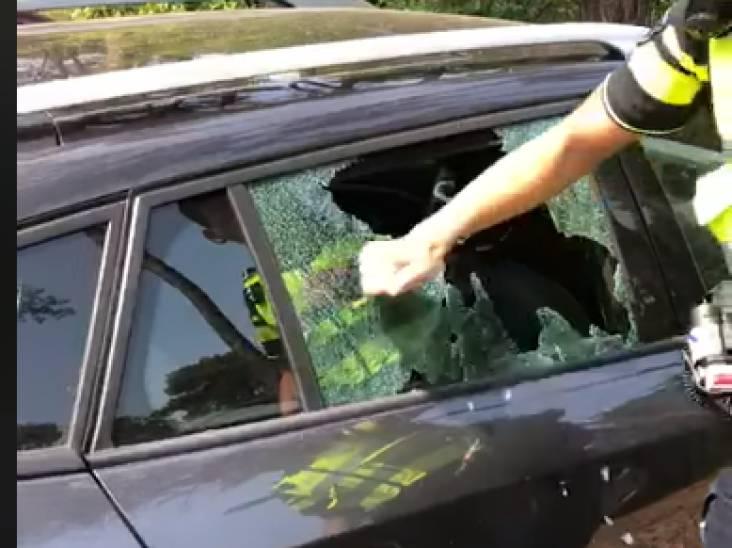 Politie tikt ruit in om hond uit snikhete auto te halen in Valkenswaard: 'Onbegrijpelijk!'