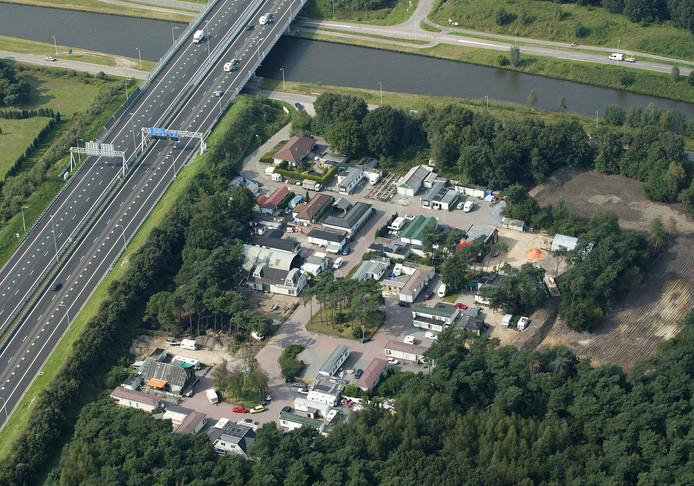 Het woonwagenkamp aan de Terraweg in Best.