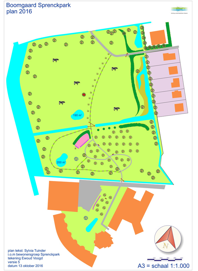 Zo moet het Sprenckpark er uit komen te zien.