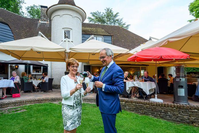 Dianne en Ad Lips van restaurant Le Jardin in Rucphen.