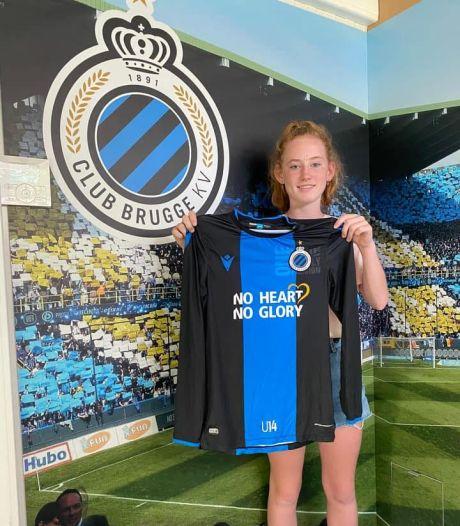 Jade Heida (14) uit Terneuzen voetbalt komend seizoen bij Club Brugge