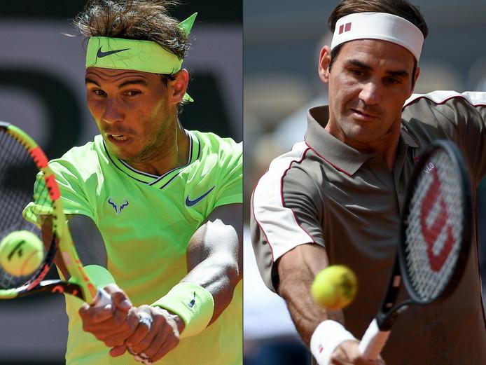 Rafael Nadal en Roger Federer.