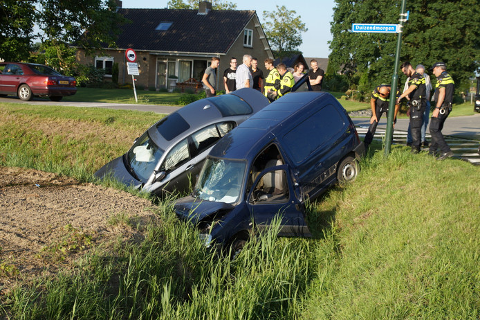 Twee auto's ongeval