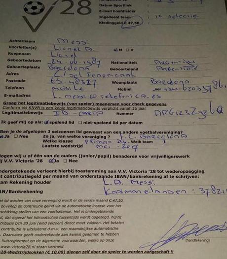 Victoria'28 uit Enschede krijgt bericht dat Lionel Messi bij club tekent