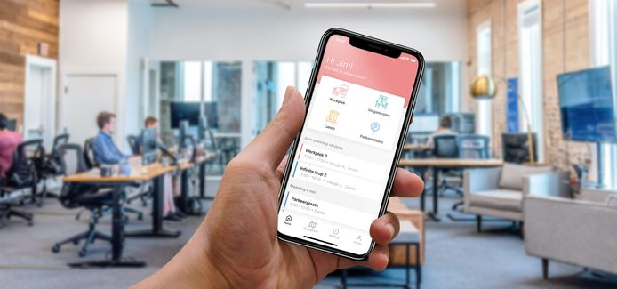 Ontwikkelaars uit Zwolle bouwden de app BookMyDesk.
