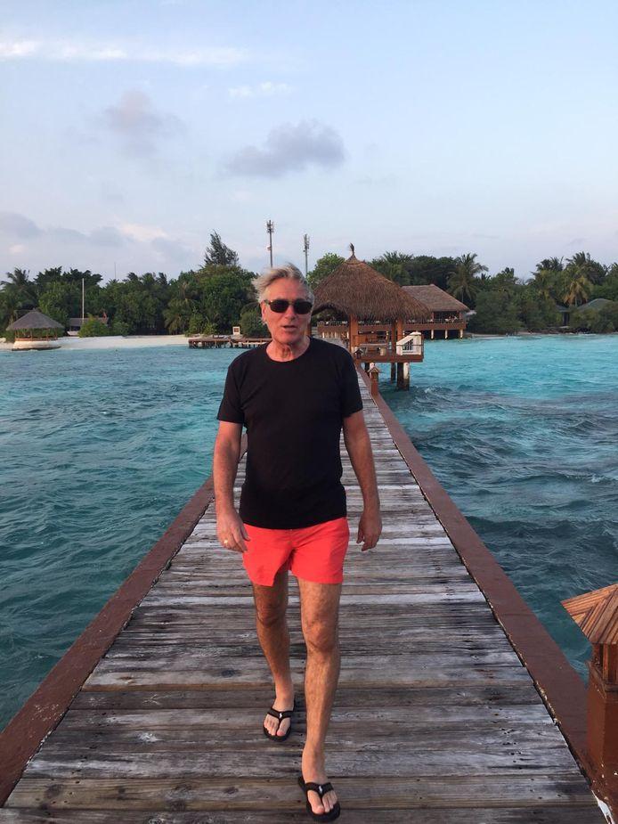 Rene Hiddink: vast op de Malediven.