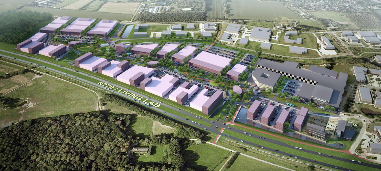 Zo moet de Automotive Campus in Helmond er op lange termijn uit gaan zien.
