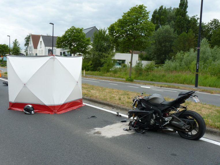 Het ongeval gebeurde op de Kortrijksesteenweg.