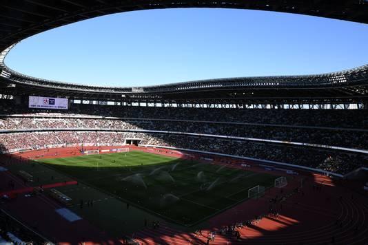 Het gloednieuwe Olympisch Stadion van Tokio.