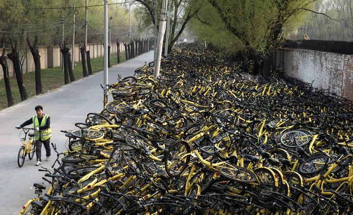 China is het land met de meeste deelfietsen ter wereld.