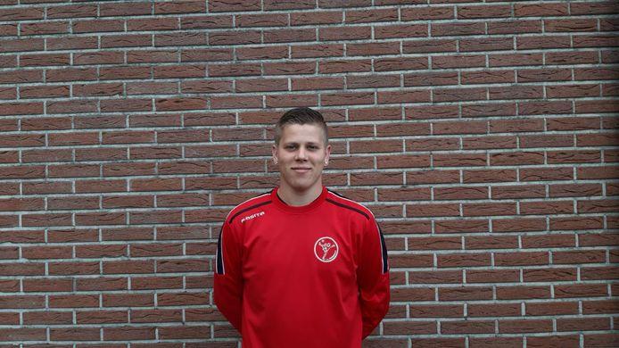 Davey Domen scoorde de eerste treffer van het seizoen voor Wernhout. (archieffoto)