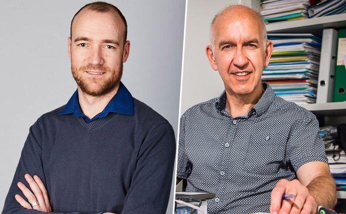 Biostatisticus Kurt Barbé (VUB) en biostatisticus Geert Molenberghs (KU Leuven/UHasselt).
