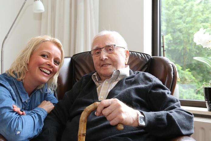 Gerdien Janse met opa Stok (Huib Janse).