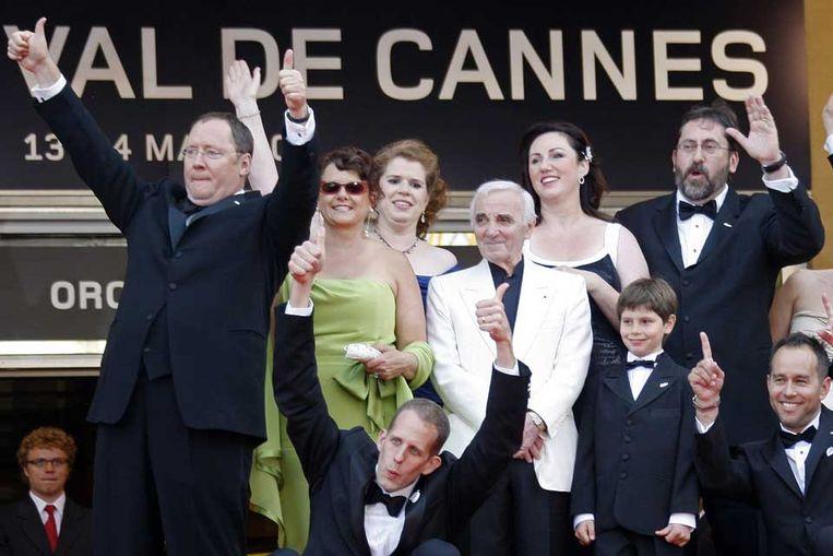 Medewerkers van de film 'Up'. (Reuters) Beeld