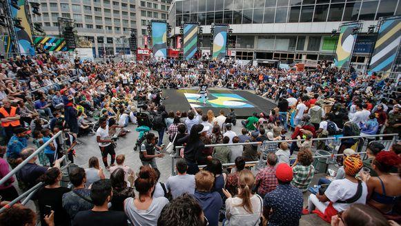 Een sfeerbeeld van 'Brussel Danst' vorig jaar.