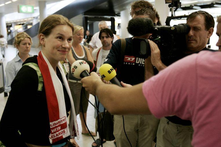 Voorzitter LSVb Irene van den Broek. Beeld ANP