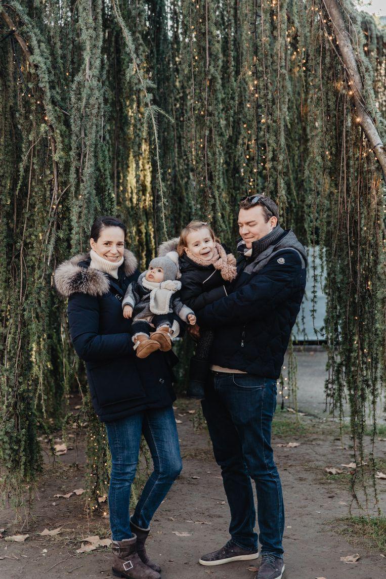 Stephanie Duval en haar gezin.