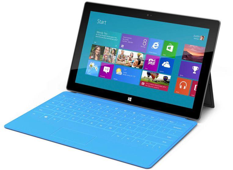 Microsoft Surface met toetsenbordcover. Beeld reuters
