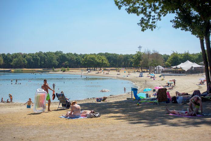 Het E3-strand in Eersel (archieffoto).