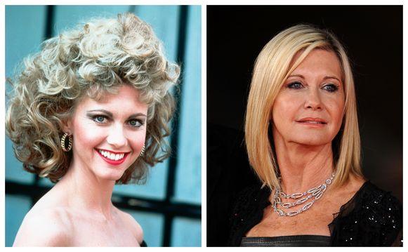 Olivia toen en nu. Ze wordt later dit jaar 70.