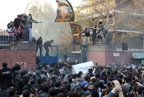 De bestorming van de ambassade in 2011.
