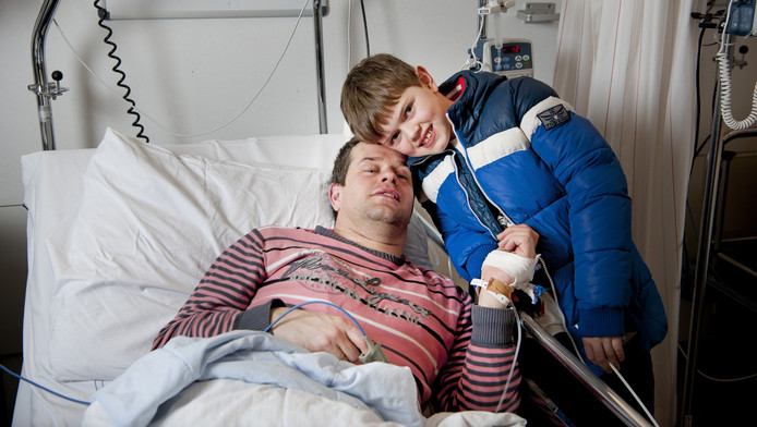 Lars samen met zijn vader Joost