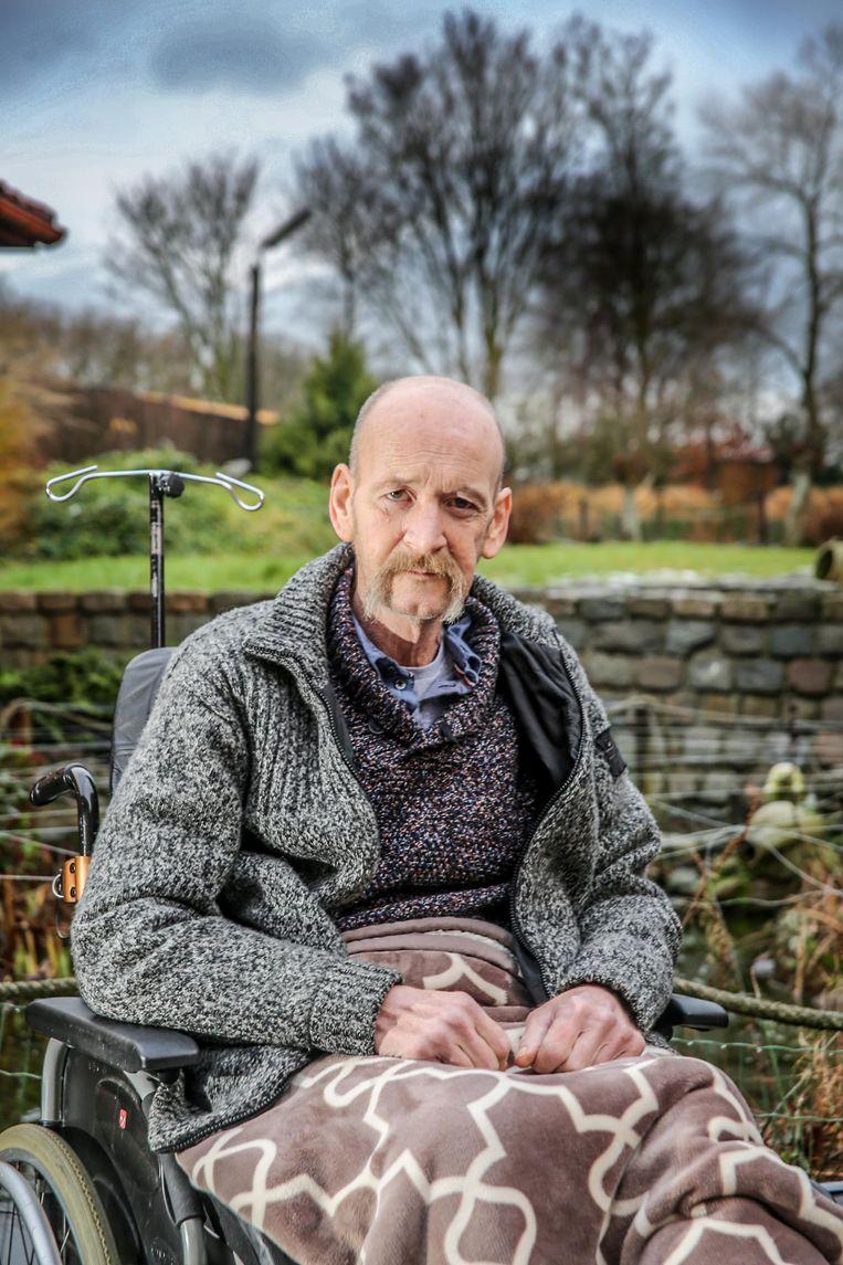 Hans Verstraete verloor een been bij het arbeidsongeval.