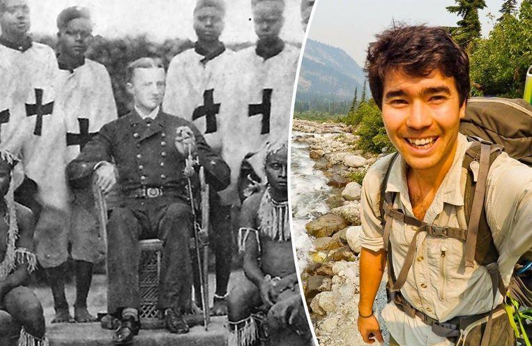Links Maurice Vidal Portman op een foto van het einde van de 19de eeuw. Rechts de vermoorde John Chau.