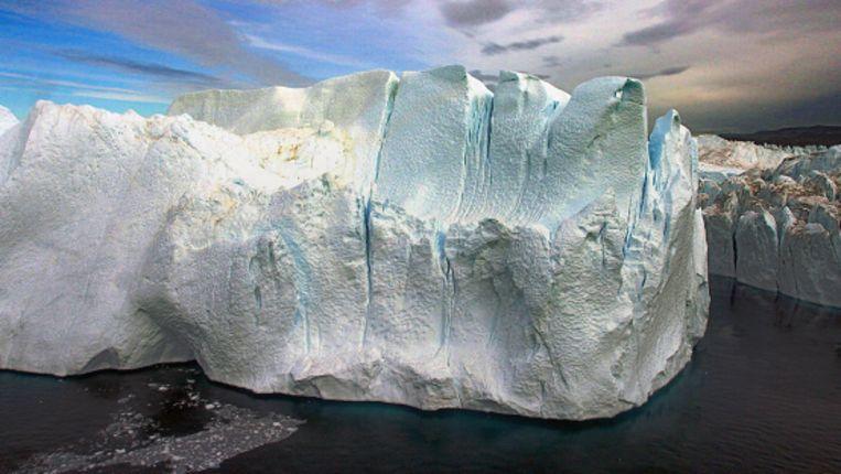Een deel van de Groenlandse ijskap. (AP) Beeld
