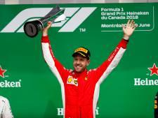 Alleen te vroeg vlaggende Harlow brengt Vettel van slag in Montreal