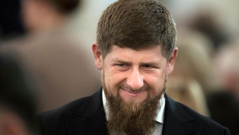 De Tsjetsjeense president Ramzan Kadyrov op een archieffoto uit december 2016 Beeld ap