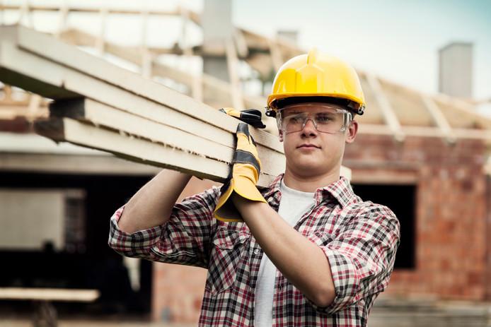 Een bouwvakker, foto ter illustratie.